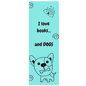 "Bookmark ""I love dogs"" Image"