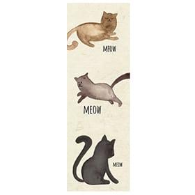 """Bookmark """"Meow Meow Meow"""" Image"""